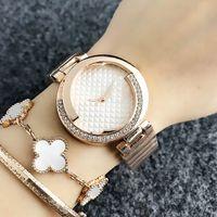 Orologio da polso al quarzo per le donne Girl Crystal Style Metal Steel Band Watches G31