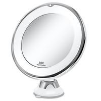 ماكياج الغرور مرآة مع أضواء LED 10X المضاء المحمولة اليد التجميل التكبير تضيء مرايا VIP دروبشيبينغ