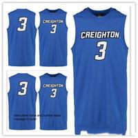 personalizado XXS-6XLcustom feita tamanho S-5XL qualquer número name # 3 Creighton Bluejays faculdade homem mulheres basquete juvenil jerseys