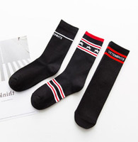 Skateboard High Street Fashion Brand Socks Mens Womens Letter Print Stars Striped Design Socks Over Ankle Stockings Cotton Blend Socks