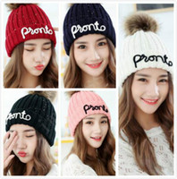 1 PCS Keep Warm Girl Double- deck Knitted Hats Women Leisure ...