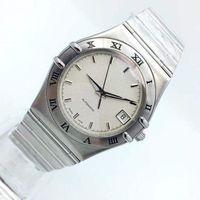 남자 스테인레스 스틸 팔찌 기계식 시계 자동 이동을위한 새로운 패션 드레스 시계 (368) 시계