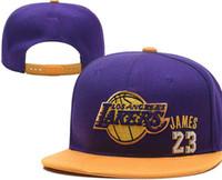 84f9d10b205 New Arrival. 2019 Hats For Man Woman Snapbacks Baseball Hat snapback N Y  Flat brim Cap strapback Embroidery Lakers 23 James LAL Cap Tide Brand hat