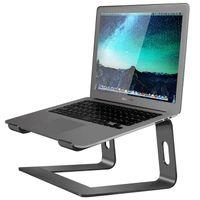 Alumínio Laptop Stand para Desk Compatível com Mac MacBook Pro Ar Notebook Titular portátil ergonómico Elevador metal Riser por 10 a 15,6 em