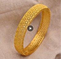 24 كيلو دبي الذهب أساور للنساء الذهب دبي العروس الزفاف الإثيوبي سوار أفريقيا الإسورة المجوهرات العربية الذهب سحر أطفال سوار