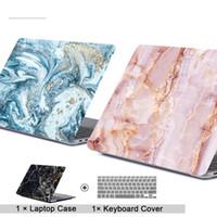 Cas d'ordinateurs portables en marbre pour MacBook 13.3 11.6 12 15.4 Air pro Retina Touch Bar à Body Body Boîte d'ordinateur portable + Couvercle du clavier A1369 A1278 A1708