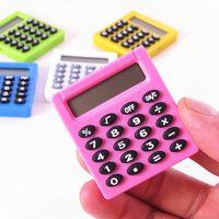 5 Farben Student Digital Electronic Mini-Rechner Outdoor Portable Batterien Taschenrechner Büro Home Digital Calculator DH1271 T03