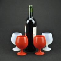 Silikon-Weinglas im Freien kampierende Tragbare Bierglas Steht Becher Silikon Cup Weingläser Bar-Wein-Becher LJJA3677
