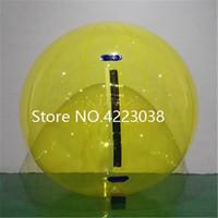 شحن مجاني 0.8 ملليمتر pvc 2 متر مصنع شفاف المشي على كرة الماء ، نفخ المياه المشي الكرة ، zorb الكرة ل تجمع المياه