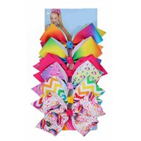 INS Girls 5Inch JOJO Siwa Large Unicorn Hair Bows With Clips...