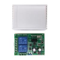 100pcs التي 433MHZ العالمي لاسلكية تحكم عن بعد التبديل AC 250V 110V 220V 2CH ترحيل وحدة استقبال و2PCS RF