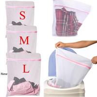 Lavandaria Bolsas lavar roupas Máquina dobrável Bra malha Net Wash Bag Bolsa cesta de roupa Proteção OOA7089-4 Net