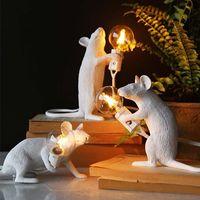 Nordischer Stil, kreative Persönlichkeit, Mini-Maustabelle, Nachttischlampe, Geschenk-Dekorationslampe für Kinderzimmer
