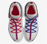 Authentique low Tune Squad Lebron 17 Blanc / Blanc-Université Rouge-jeu royal CD5007-100 Lebrons 17 S Hommes Rétro Chaussures de basket-ball