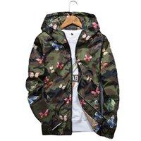 Günlük Kamuflaj Hoodie Ceket Yeni Sonbahar Kelebek Giyim Erkek Kapşonlu WINDBREAKER Coat Erkek Dış Giyim yazdır Mens Tasarımcısı