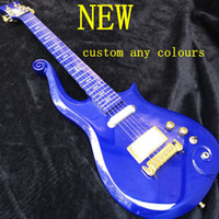 Rare Prince Cloud Guitarra eléctrica blanco azul Oro Hardware La guitarra china más vendida en stock