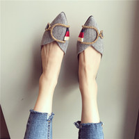 New ladies comfortable pointed flat shoes spring and autumn ...