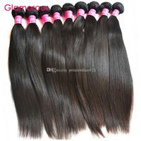 Glamorous Malásia extensões do cabelo Atacado 100% Original Cabelo Humano 10pcs peruana indígena brasileira Hetero Weave Cabelo da Mulher Negra