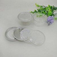 금속 뚜껑 컨테이너 식품 허브 스토리지 박스 식품 항아리 투명 식품 밀봉 된 병 캔 ZZA2283와 100ML 67 * 30mm PET 플라스틱 항아리