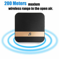 Wireless WiFi inteligente interior visual campainha Intercom Porta Segura Camera Sino Segurança Waterproof Receptor de música Início Cordless Campainhas