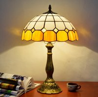 Tiffany table lamp European Mediterranean style decorative l...