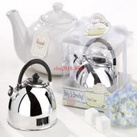 50 unids / lote regalos del favor de la bodaTeapot Timer Love is Brewing boda invitados regalos nupcial ducha favor regalos