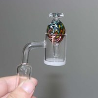 New Approx 21. 5mm OD US Colored Wig Wag Glass Bubble Carb Ca...
