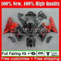 Vücut YAMAHA YZF 1000 Kırmızı alevler YZF R 1 YZF-1000 YZFR1 00 01 Çerçeve 95MT4 YZF R1 00 01 YZF1000 YZF-R1 2000 2001 Fairing Bodywork Kit
