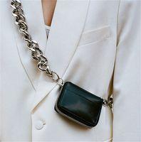 HBP Umhängetasche Frauen Dicke Kette Taschen Mode Diagonale Kreuz Münze Ins Super Feuer Mini Leder Kleine Tasche Weibliche