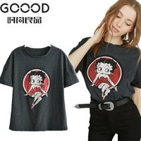 Goood Cute Cartoon Print 2019 Women Cotton T- shirt Summer Ca...