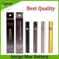 100% оригинал AMIGO MAX максимальный догревый аккумулятор 380 мАч переменное напряжение VV нижний зарядки 510 батареи для либерти V9 толстый бак для картриджа