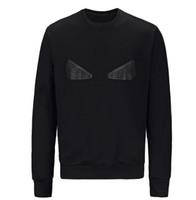مصمم جديد هوديي البلوز الرجال النساء القطن سترة هوديي نمط طويل كم أسود عيون طباعة البلوز هوديس الشارع الشهير Sweatershirt