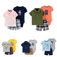 Ins Baby boys Outfits Cotton Romper Onesies + Shorts + Polo sh...