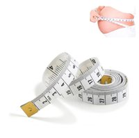 Fashion Portable White Body Measuring Ruler Inch Sewing Tailor Tape Measure Soft Tool 1.5M Sewing Measuring Tape Ring Sizers