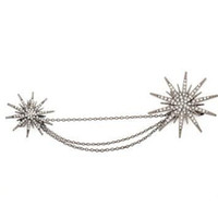 Fashion Crystal Snowflake Brooches for Women Star Chains Bro...