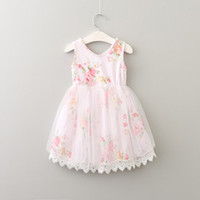Baby Girls Broken Flower Lace Tutu Dress 2017 New Summer Dre...