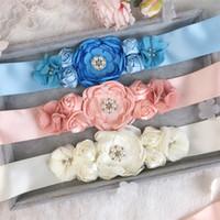 Handmade Wedding Bridal Bridemaid пояс 2019 Женщины Девушки Мать Дочерние Мать Дочерние Платья Цветы Жемчужины 8 Цветов Ивуаловый Розовый Синий Материн