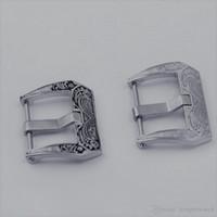 Vintage toka Yeni moda Fit PANER izle pimi 20/22 / 24mm paslanmaz çelik toka kazınmış