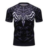 Мужские футболки мужские футболки сжатие 3D печать рубашки мужчины Raglan с коротким рукавом Фитнес-вершины Коди Лунди