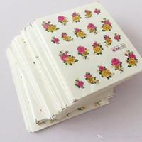 55 stücke 55 Designs 3d Glitter Blume Wassertransfer Wraps Glitter Pulver Nagel Aufkleber Aufkleber Salon Dekorationen für Schönheit