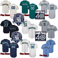 Homens 51 Ichirosuzuki 24 Kengriffeyjr. 22 Robinson Cano 34 Felix Hernandez 51 Randy Johnson 11 Martinez 10 Edwin Encarnacion Baseball Jersey
