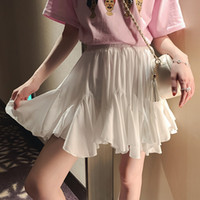 White Black Chiffon Summer Shorts Skirt Women 2019 Fashion K...