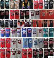 NCAA North Carolina 2020 New XX Team 23 Michael JD 45 MJ Scottie 33 Pippen Dennis 91 Rodman رخيصة الرجعية كرة السلة الفانيلة