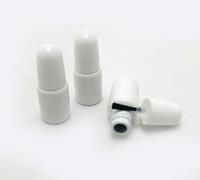 30 × 3ML البسيطة طلاء الأظافر زجاجة الزجاج الأبيض التعبئة زجاجة مع الأسود فرشاة كاب حاوية مستحضرات التجميل اكسسوارات منفصلة