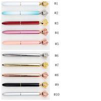 Kaiserkrone Verzierungs Kristall Pen Gem Kugelschreiber Bürometall Gelschreiber Bürobedarf Studenten Stationer YYA10