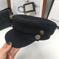 Fashion small sweet mother- daughter hat flat knitting hat M ...