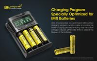 Carregador freeshipping Intelligent Nitecore UM4 quatro slots USB compatível com a bateria IMR Li-ion LiFePO4 Ni-MH Ni-Cd