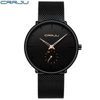 2019 crrju Uhr Frauen Männer Watch Top Marke Luxus Berühmtes Kleid Mode Uhren Unisex Ultra Thin Armbanduhr Relojes Para Hombre