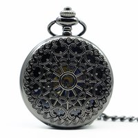 Hollow Gear Fob Design Mechanical Watch Vintage Silver Pocke...