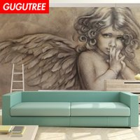Decorate home 3D mural angel cartoon art wall sticker decora...